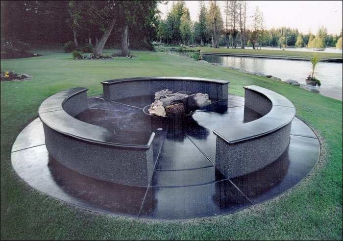 Outdoor Concrete Fireplace Sammamish WA